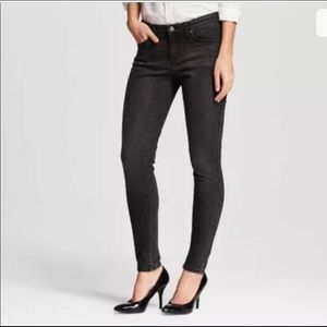 Black Shine Lycra Super Stretch Skinny Jeans